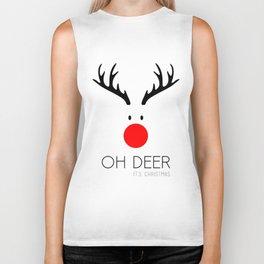 Oh Deer it's Christmas Biker Tank