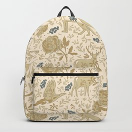Countryside lodge view Backpack