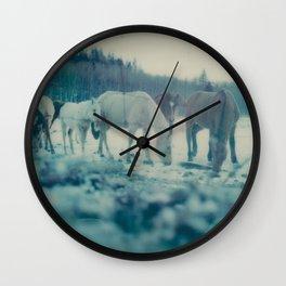 Albertan Winter Wall Clock