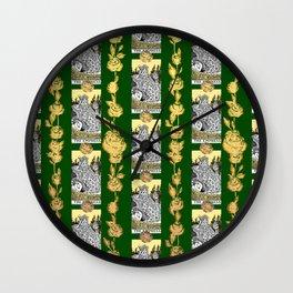 The Empress - A Floral Tarot Print Wall Clock