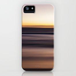 Sunset Pastel Color Ombre Fine Art Motion Waves Ocean Beach Seascape Landscape Lustre Framed Print iPhone Case