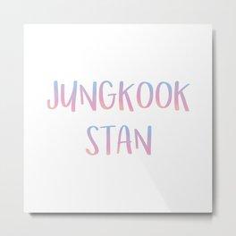 Jungkook Stan Metal Print