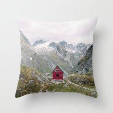 Mint Hut Throw Pillow