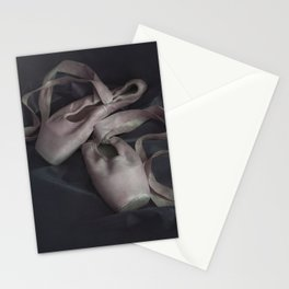 Pastel pink points ballet shoes Stationery Cards