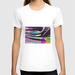 Lines and spots of color abstract digital painting T-shirt