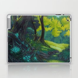 Magic forest glade art bright colors Laptop & iPad Skin