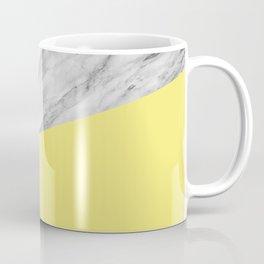 Marble and Yellow Color Coffee Mug