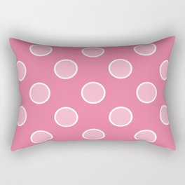 Geometric Orbital Pretty Pink Candy Dot Circles Rectangular Pillow