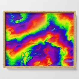 Psychedelic  Fire Serving Tray