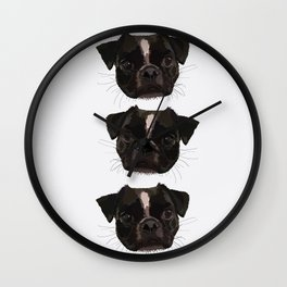 The Pug Wall Clock