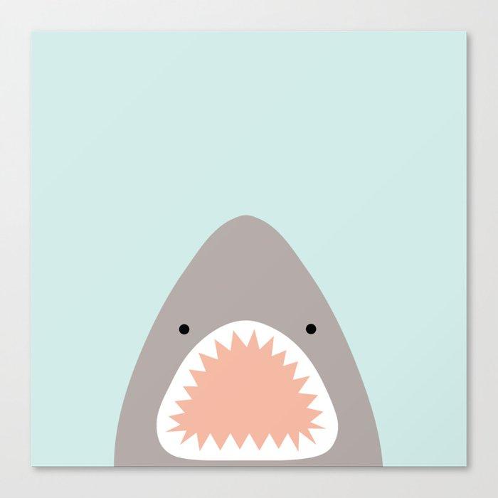 shark attack Leinwanddruck