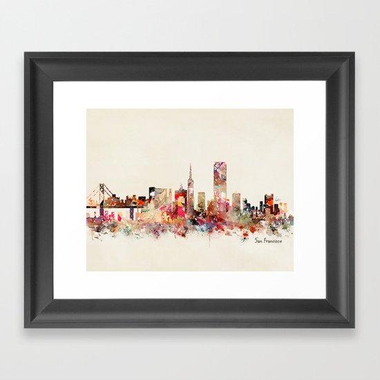 San Francisco city Framed Art Print