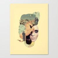 aquarius Canvas Prints featuring Aquarius by Francisca Pageo