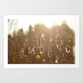 fall bullrush Art Print