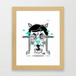 evilcat by s-fly Framed Art Print