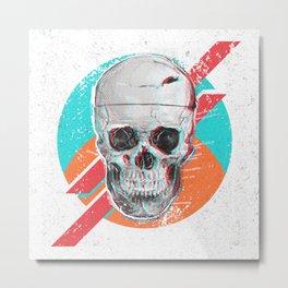 3D Skull Death Pop Metal Print