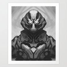 Crab suit Art Print