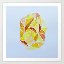 cuarzo amarillo Art Print