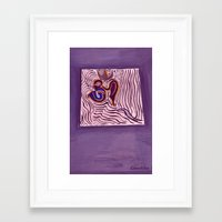 om Framed Art Prints featuring om by Loosso