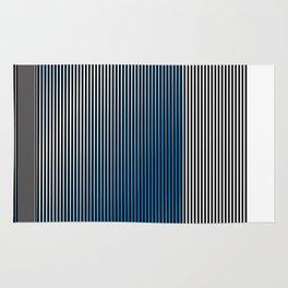 Escultura Cubo virtual azul y negro con progresión amarilla -Detail- Rug
