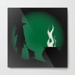 Halloween Witch Background Metal Print