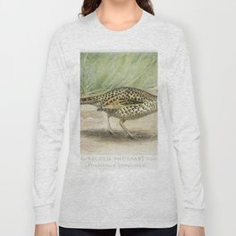 Ring-Necked Pheasant Female (Phasianus Torquatus) illustrated by JL Ridgway (1859-1947) and WB Gille Long Sleeve T-shirt
