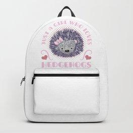 Girl Who Loves Hedgehogs Backpack