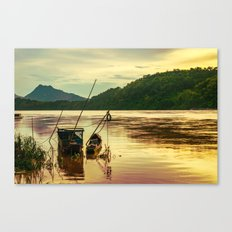 Sunset over the Mekong River Canvas Print
