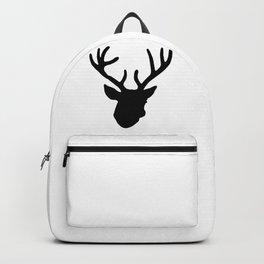 Deer Head: Black Backpack