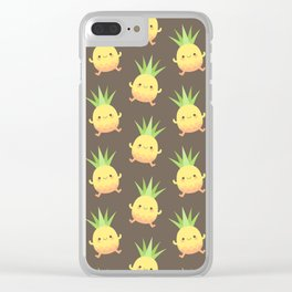 Happy pineapple kids Clear iPhone Case