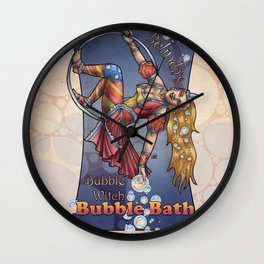Bubble Witch Bubble Bath Wall Clock