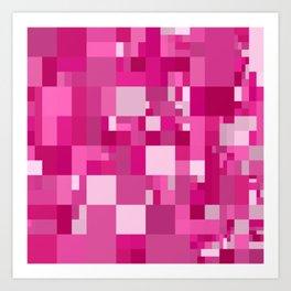 light pink mosaic Art Print