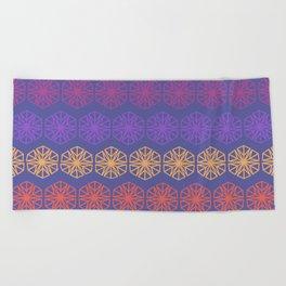 Vintage Kaleidoscope Beach Towel