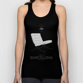 Chairs - A tribute to seats: I'm a Barcelona (poster) Unisex Tank Top