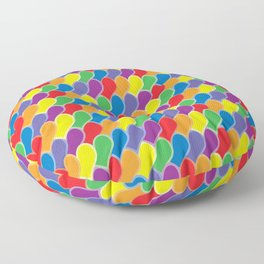 Pride Heart Scale Pattern Floor Pillow