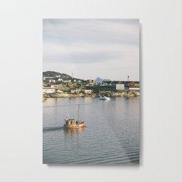 disko boat - greenland Metal Print