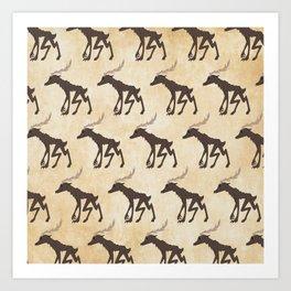 Wendigo Pattern Art Print