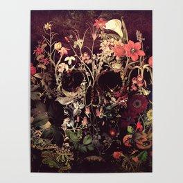 Bloom Skull Poster