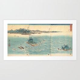 Rapids at Naruto, Hiroshige Art Print