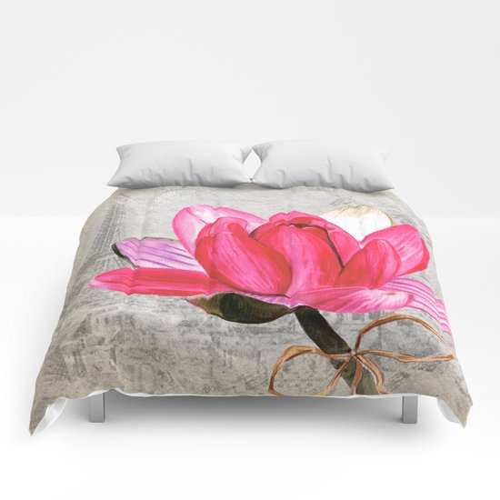 Macro Flower #1 Comforters