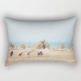 Oregon Wilderness Horses Rectangular Pillow