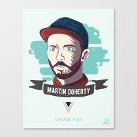chvrches Canvas Prints featuring Martin Doherty  - CHVRCHES by Derek Brown