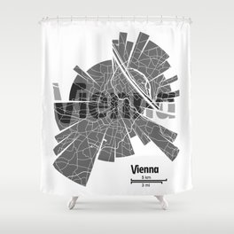 Vienna Map Shower Curtain