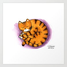 Sleepin Charlie Art Print