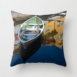 Scandinavian Row Boat Throw Pillow