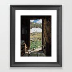 Colorado Mountain Cabin Framed Art Print
