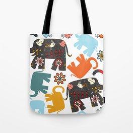 Elephants pattern #4SD Tote Bag