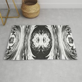 68 - Black and White Abstract Rug