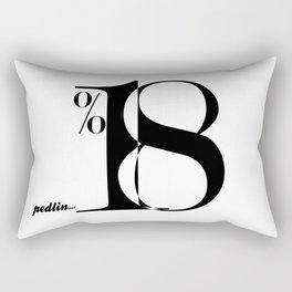 Eighteen Percent Rectangular Pillow