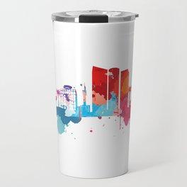 Tel Aviv Cityscape Watercolor Travel Mug